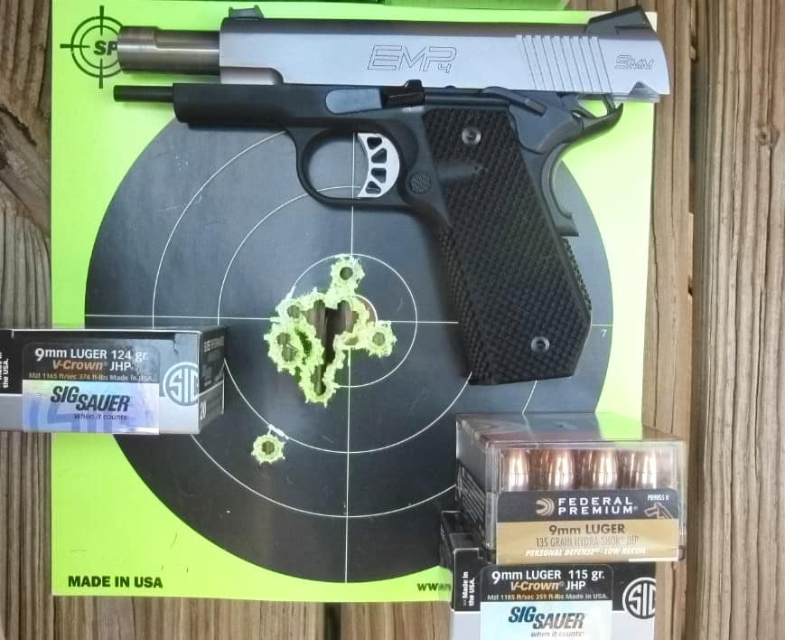 Target Hits-- 7 Yards- 18 Hits Drawing & Fast-Fire with Mag Change with EMP4 Contour