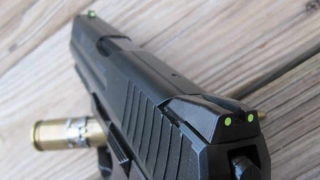 P30's Photo Luminescent Afterglow Painted Sights Helped Target Acquisition in Low Light