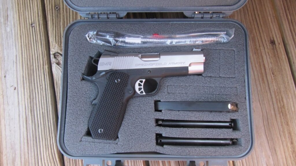 Springfield EMP4 Contour lockable hard Case includes 3 magazines, lock, brush, Extra Fiber Optic Rods & Manual