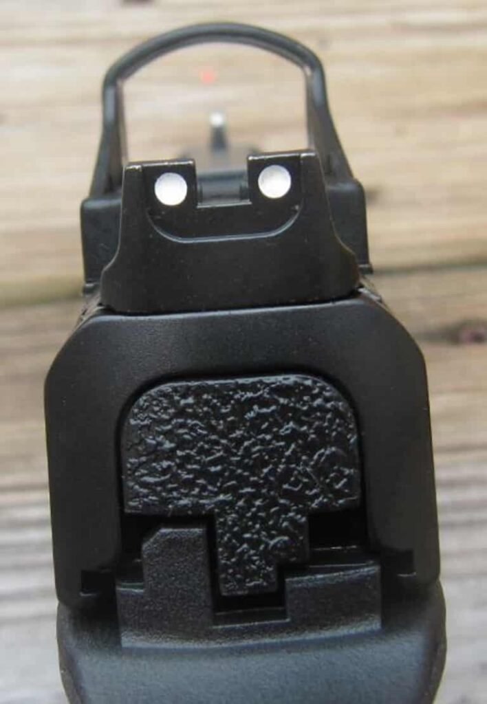 SW M&P Ported 9L with Shield Red Dot-REAR SIGHTS to Front Sight
