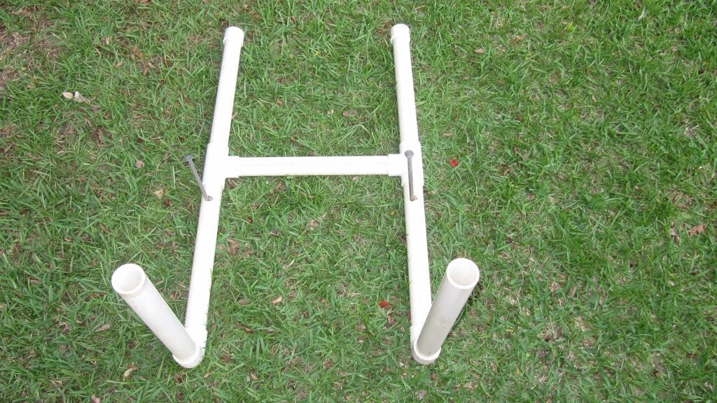 Assembled Target Stand with 2 Drilled Holes with Spikes Inserted for Stability (Optional)