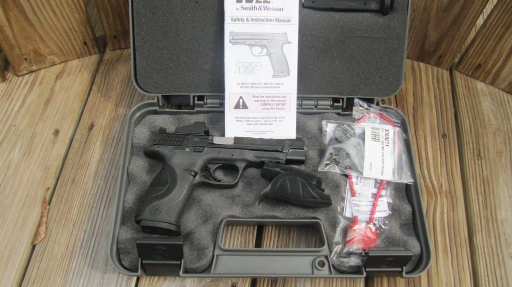 Smith-Wesson M&P 9L SMS 9mm Pistol with Hard Case, Mags, 4 Mounting Plates, Tools, Backstraps, Lock, Manual