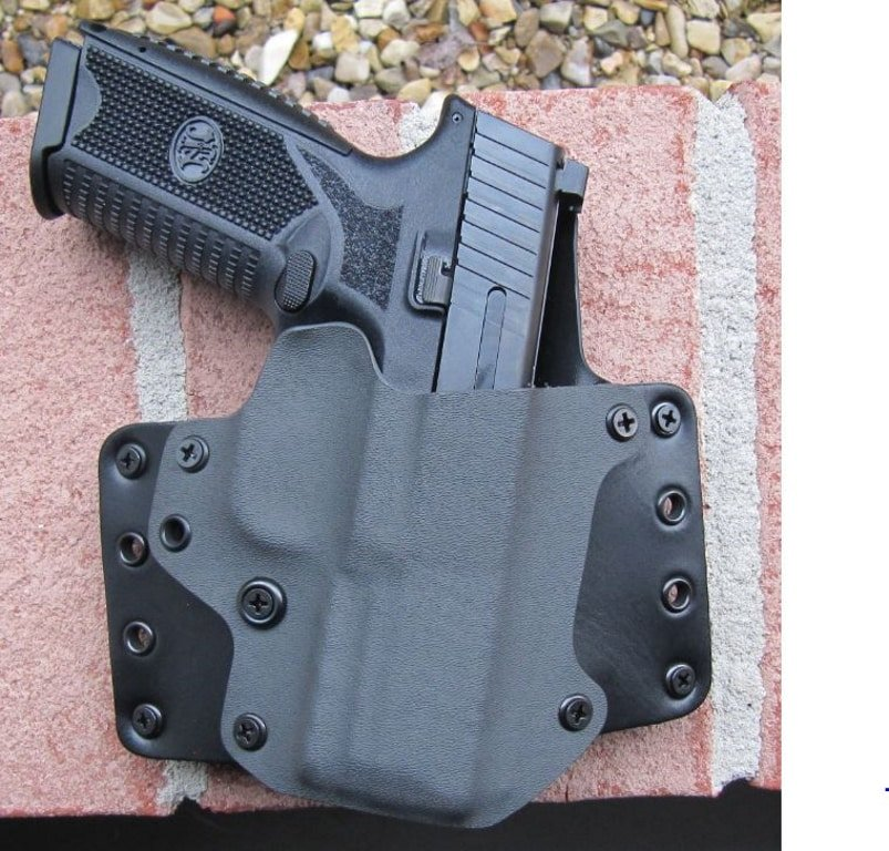 FN 509 in Blackpoint Tactical OWB Kydex & Leather- Leather Wing Holster