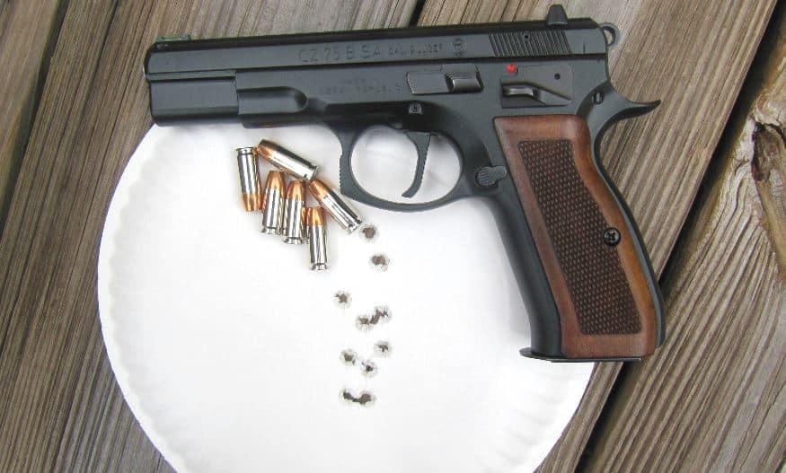 Target Hits- CZ 75 B SA 9mm - 10 Yards