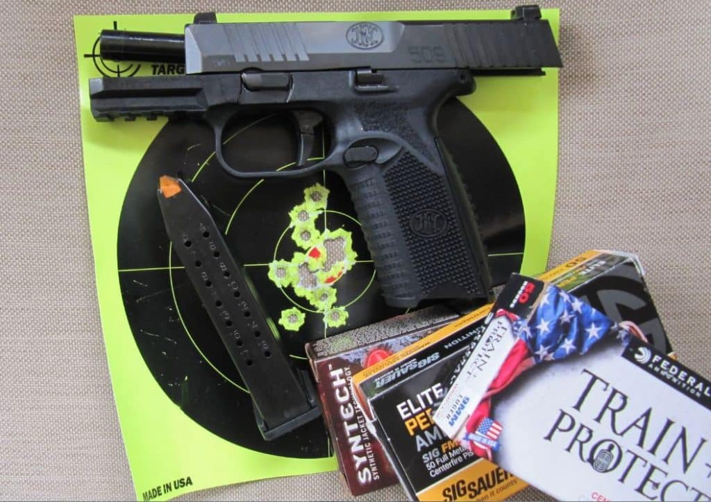 FN 509- 17 Rapid Fire Hits at 7 Yards