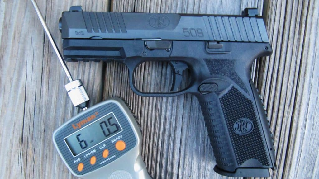 FN 509 Trigger Press as Measured by Lyman Electronic Gauge