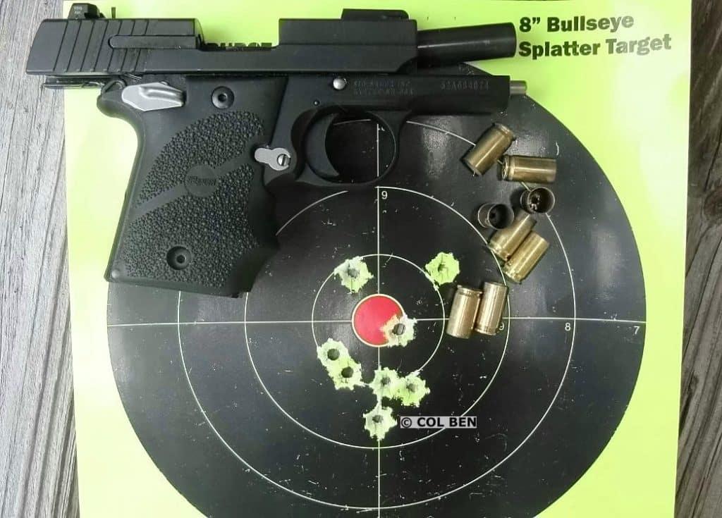 Sig Sauer P938 9mm- 8 Hits at Close Combat Distance 3 Yards