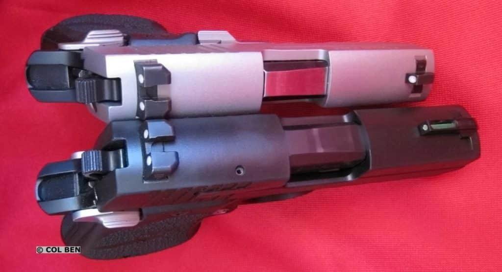 Sig 238 .380 Top - Sig 938 9mm Bottom