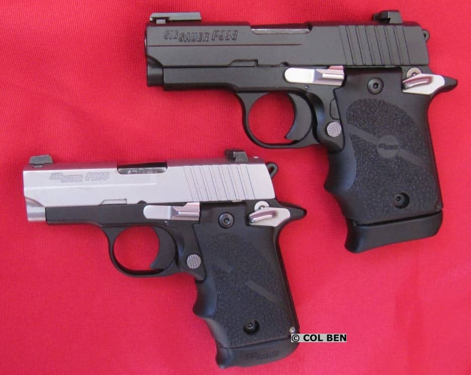 Sig Sauer P938 (Top) in 9mm and Sig Sauer P238 (Bottom) in .380ACP Single Action Only Pistols