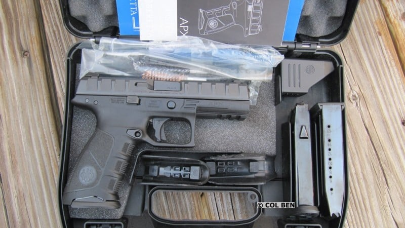 Beretta APX in Hard Case- Owner's Manual, Lock, 2 Extra Backstraps, Extra Mags, Rod, Brushes, Loader