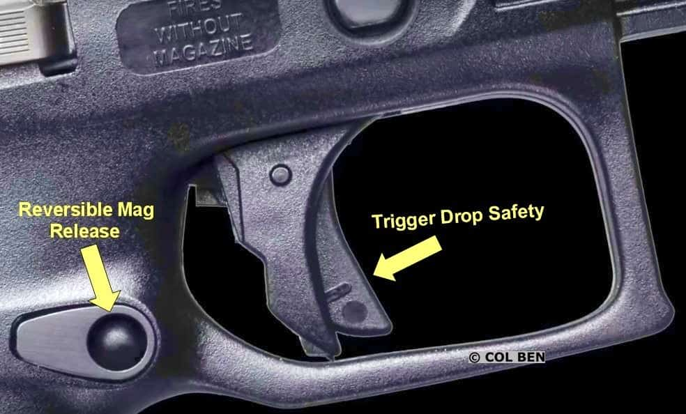 Beretta APX Trigger Safety and Reversible Mag Release