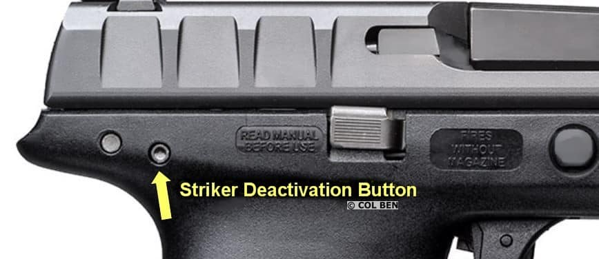 Beretta APX Striker Deactivation Button- for Disassembly Without Pressing Trigger