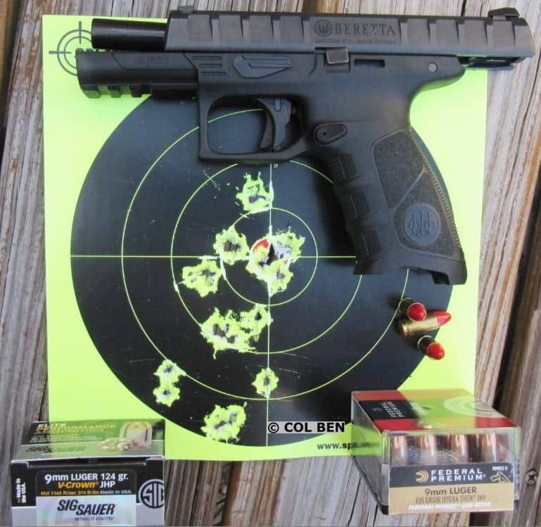Beretta APX 9mm - 17 Hits at 10 Yards Using Center-Mass Hold