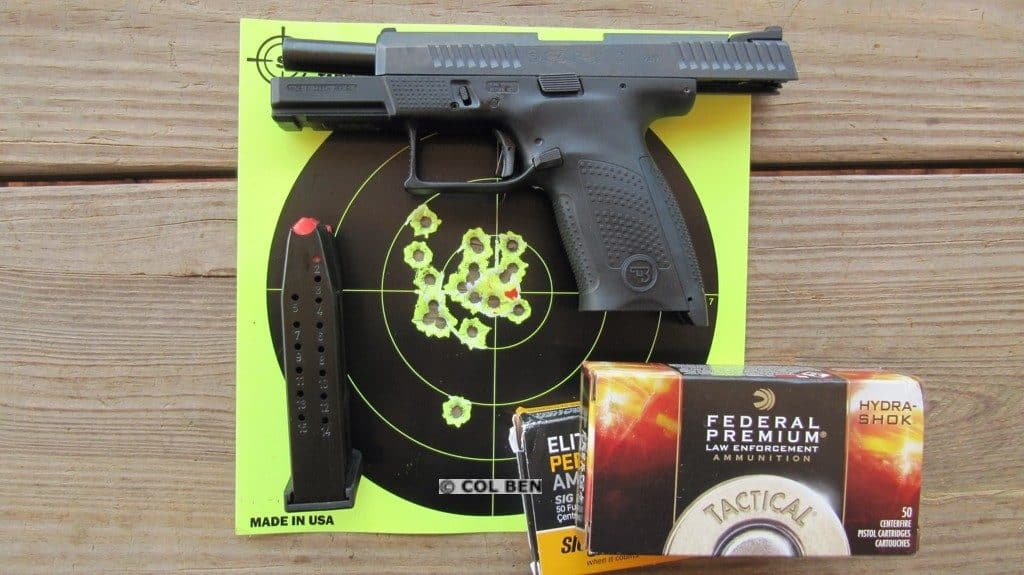 CZ P-10 C 9mm- 17 Rapid Fire Hits at 7 Yards