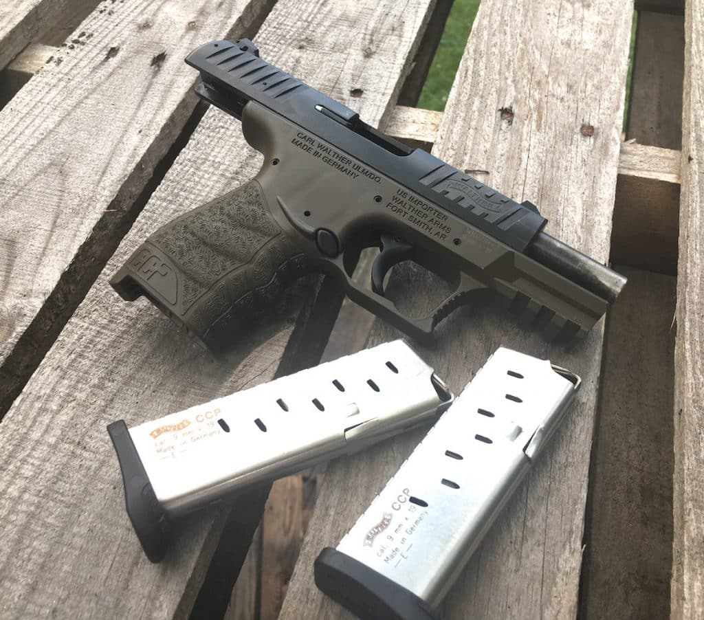 The CCP with its two magazines after putting in some work on the range.