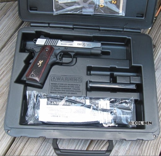 Nice Hard Plastic Case with 1911-380 Pistol, cable lock & keys, 2 mags, & Owner's Manual Included