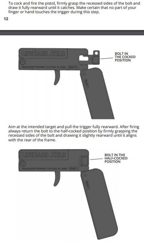 Trailblazer LifeCard .22LR Pistol- Credit Card Size Single-Shot-COCK-FIRE