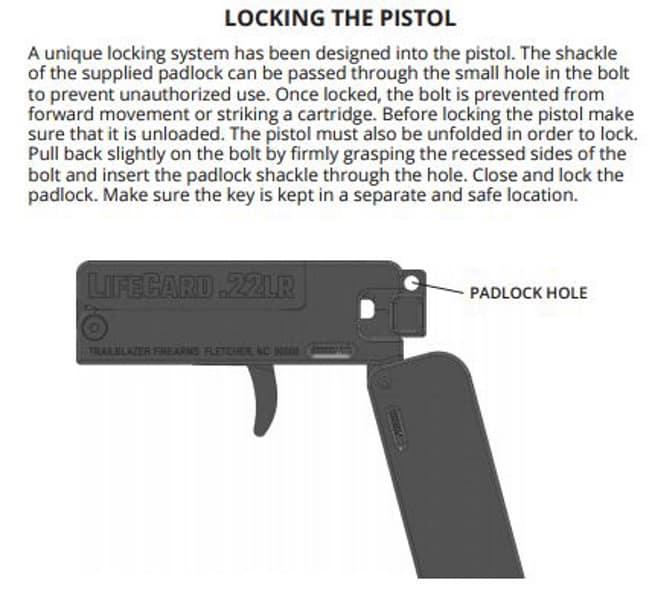 Trailblazer LifeCard .22LR Pistol- LOCKING