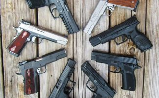 Home Defense Full-Size Pistols: Considerations, Characteristics, & Examples
