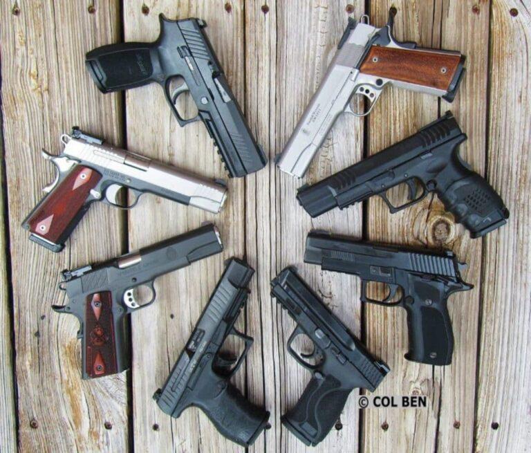 Home Defense Full-Size Pistols: Considerations, Characteristics & Examples