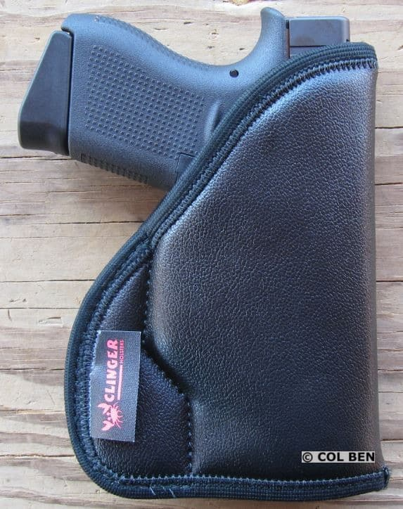 Clinger Holsters Comfort Cling Clipless Pocket Holster with Gel Core with Glock 43 & DXT
