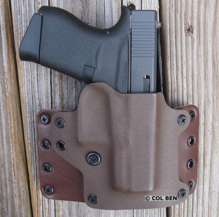 Blackpoint Tactical Leather Wing OWB Hybrid Kydex and Leather Holster with Glock 43 & DXT