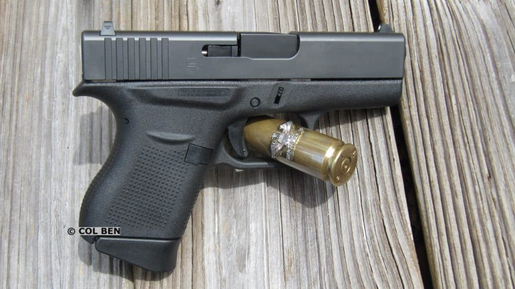 Glock 43- Right Side- No Ambidextrous Slide Release or Magazine Release
