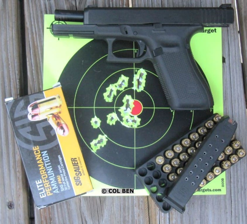 Target Hits- 17 Rounds at 7 Yards with Glock 17 Gen 5 9mm Pistol