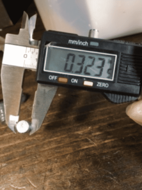 Measuring Bullet Size