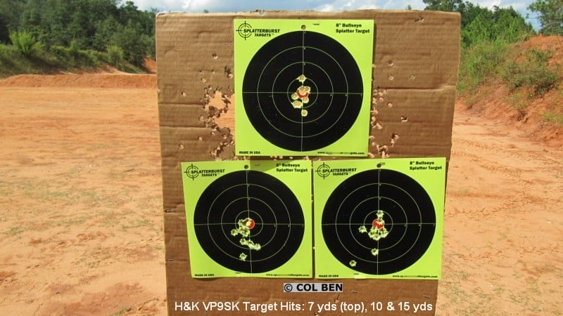 H&K VP9 SK Subcompact 9mm Target Hits- Rapid Fire at 7 Yards