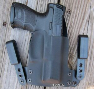 Blackpoint Tactical Mini-Wing IWB Kydex and Leather Holster with H&K VP9 SK