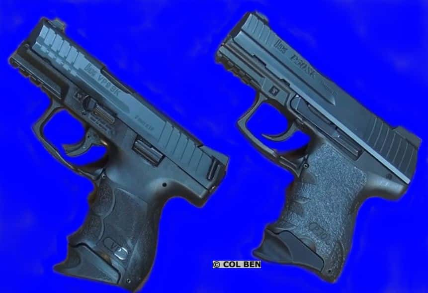 H&K VP9 SK Subcompact Striker (left) Compared to H&K P30 SK Hammer-Fired 9mms