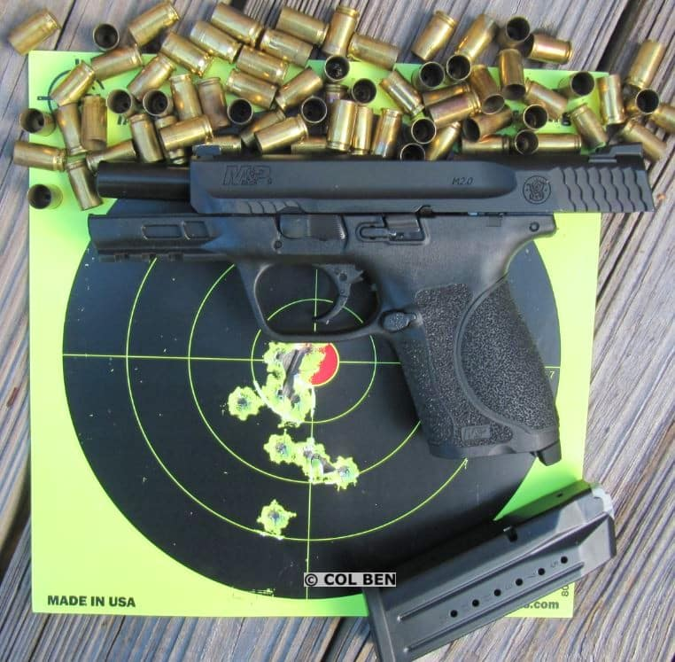 M&P M2.0 Compact 9mm- 15 Target Hits Rapid Fire at 7 Yards with Sig V-Crown JHP Ammo