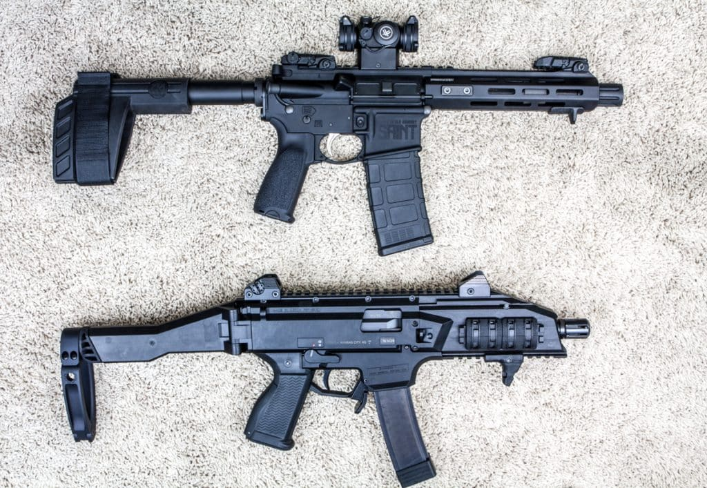 Saint Pistol Compared to CZ Scorpion EVO