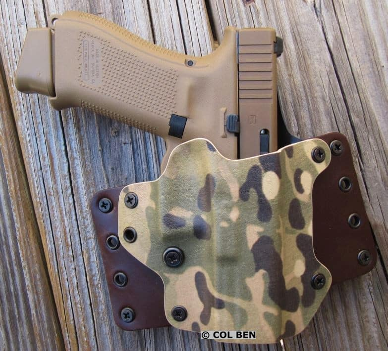 Glock 19X in a Blackpoint Tactical Leather Wing Holster