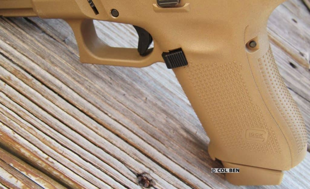 G19X Crossover - No Finger Grooves, Comfortable Grip Texture, Enlarged Mag Release & Trigger Safety