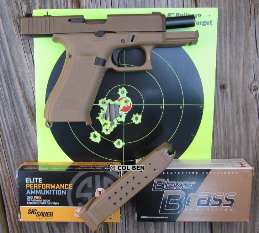 Target Hits - 17 Rounds at 7 Yards Fast Fire with Glock 19X 9mm Pistol