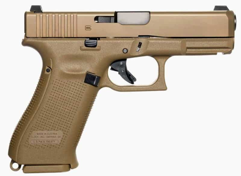 Glock 19X Crossover: Ambidextrous Slide Stop Levers, Durable nPVD Finish Coating on the Slide, Coyote Color