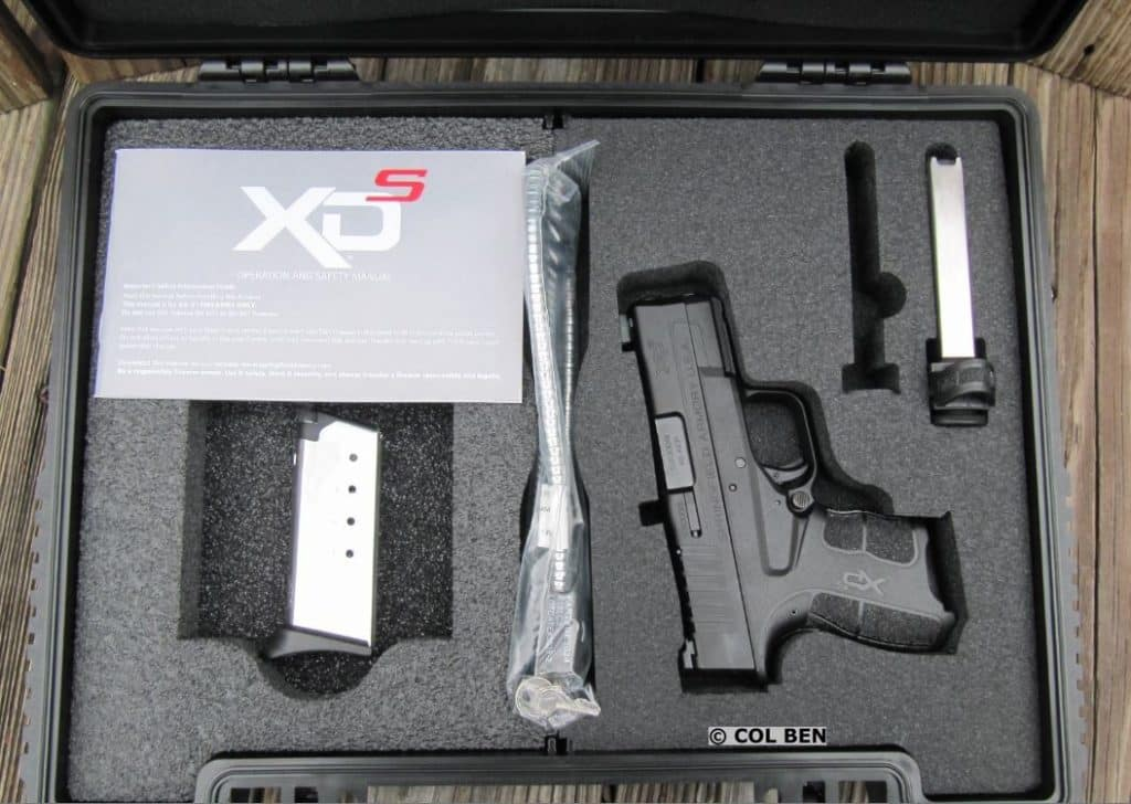 The XDs Mod.2 had a Nice Hard Case included a Lock, Cleaning Brush, second Mag, & Instruction Manual