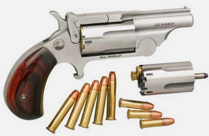 NAA Ranger II Break-Top Mini Revolver with .22WMR and .22LR Cylinders