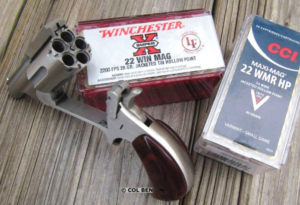 Ranger II Break-Top with Safety Notches in Cylinder & CCI Maxi-Mag .22WMR JHPs & Winchester Super X JHPs