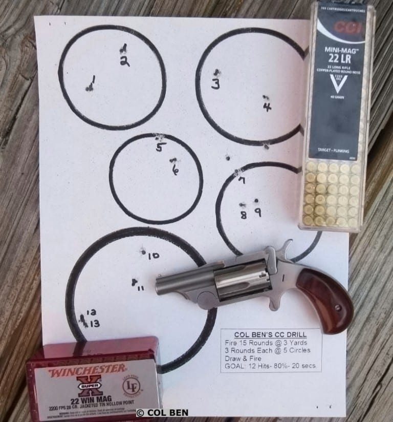 13 Target Hits with My CC Drill & Ranger II: Drawing & Firing Rapid Fire 15 Rounds at 3 Yards at 5 Circles in 20 Seconds