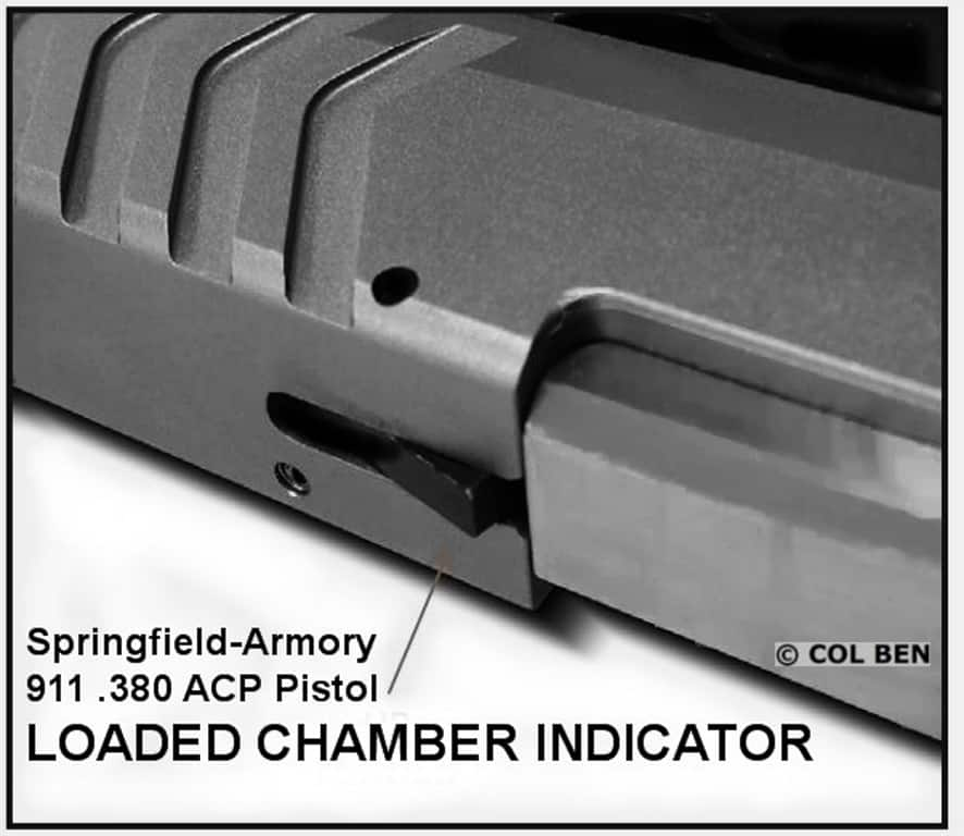 Springfield 911 .380-LOADED CHAMBER INDICATOR