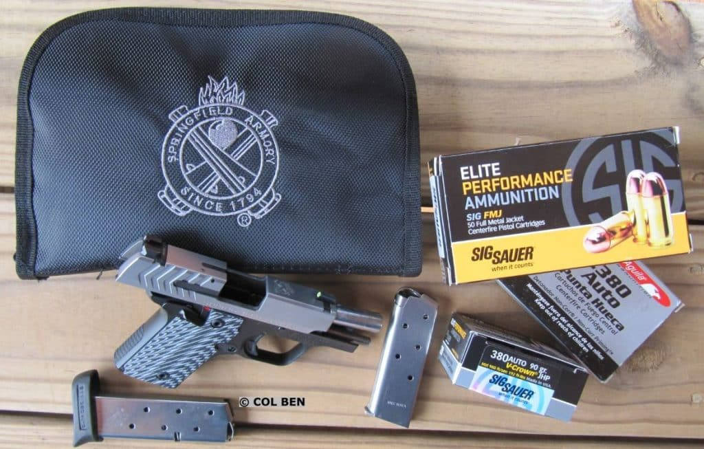 911 .380 Pistol with Soft Caser-2 Mags-Quality Sig Sauer & Aguila Ammo