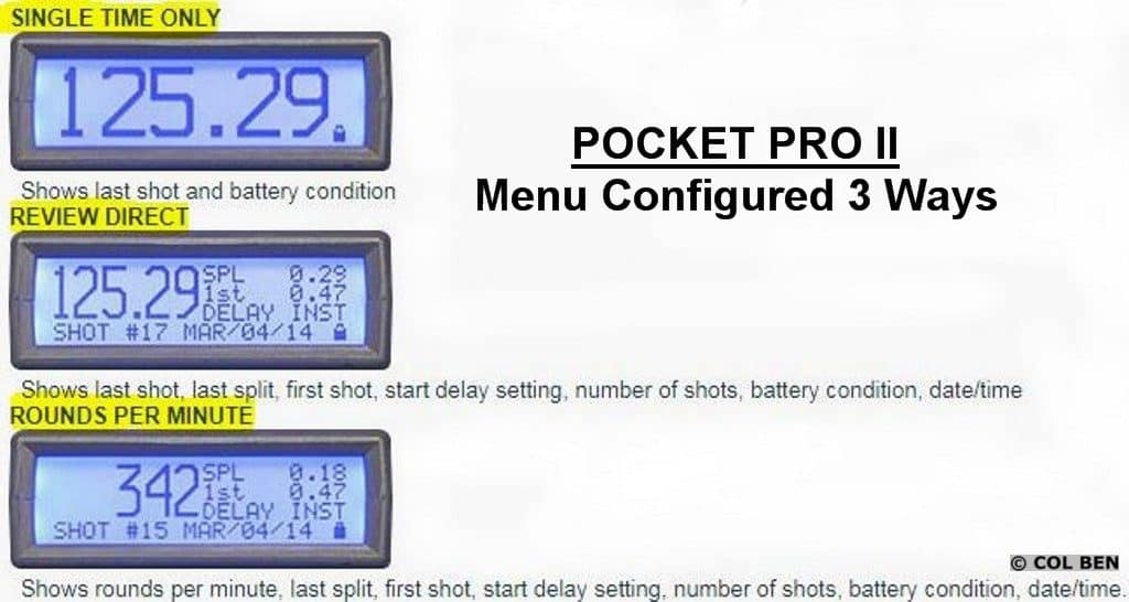 Pocket Pro II- Configuration