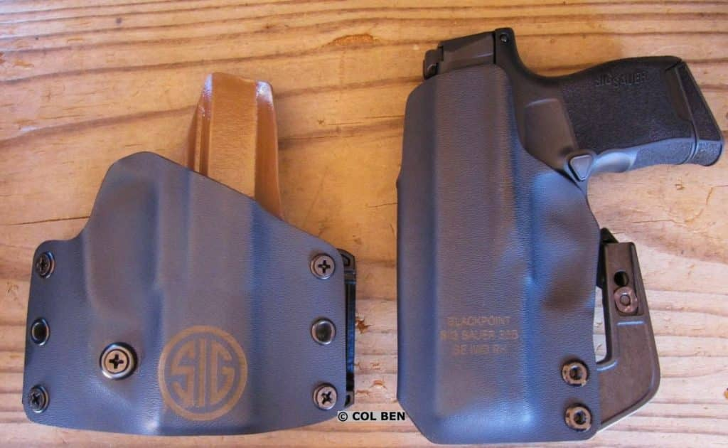 Blackpoint Tactical offers Kydex OWB and Kydex Appendix IWB Holsters for the Sig P365