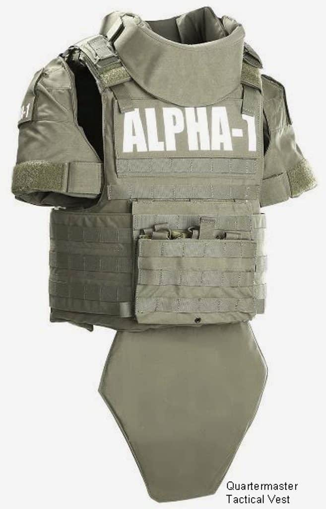 Military Tactical Vest with AX III-A Ballistics