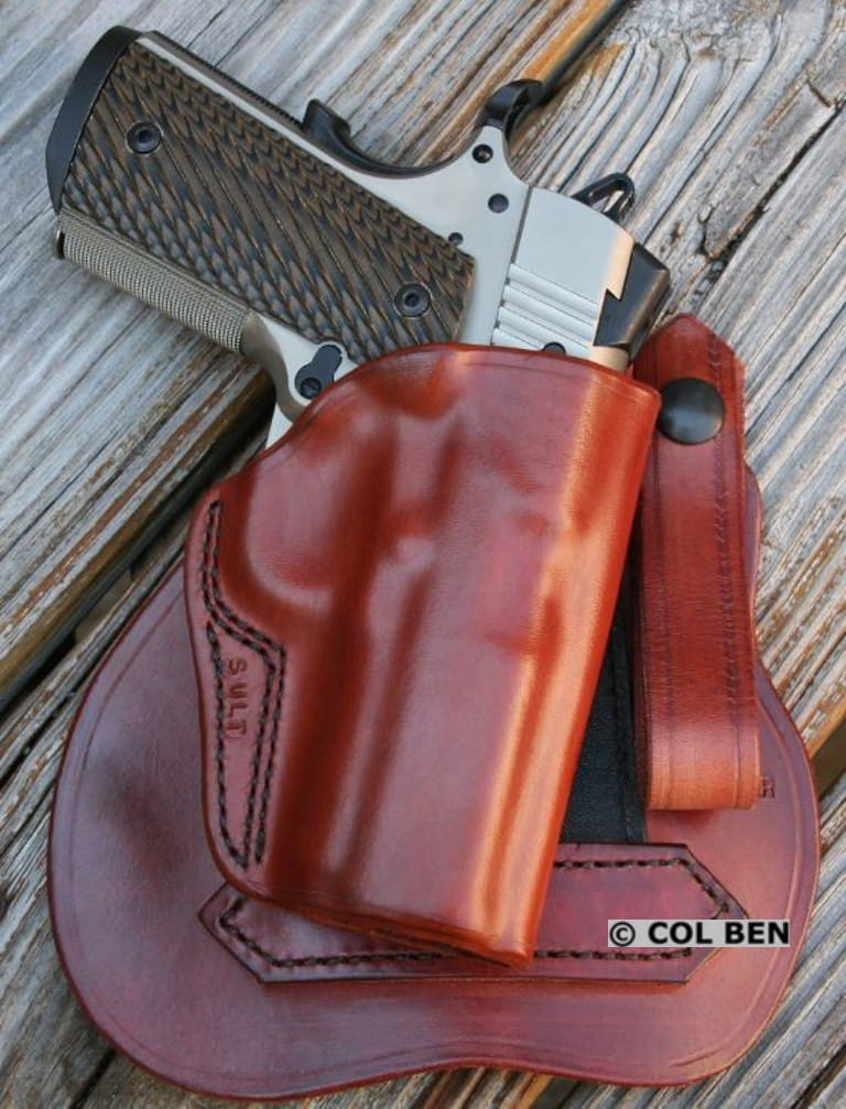 Kramer Leather's High-Quality, Custom Horsehide Leather Paddle Holster for Sig 1911 Ultra Compact 9mm