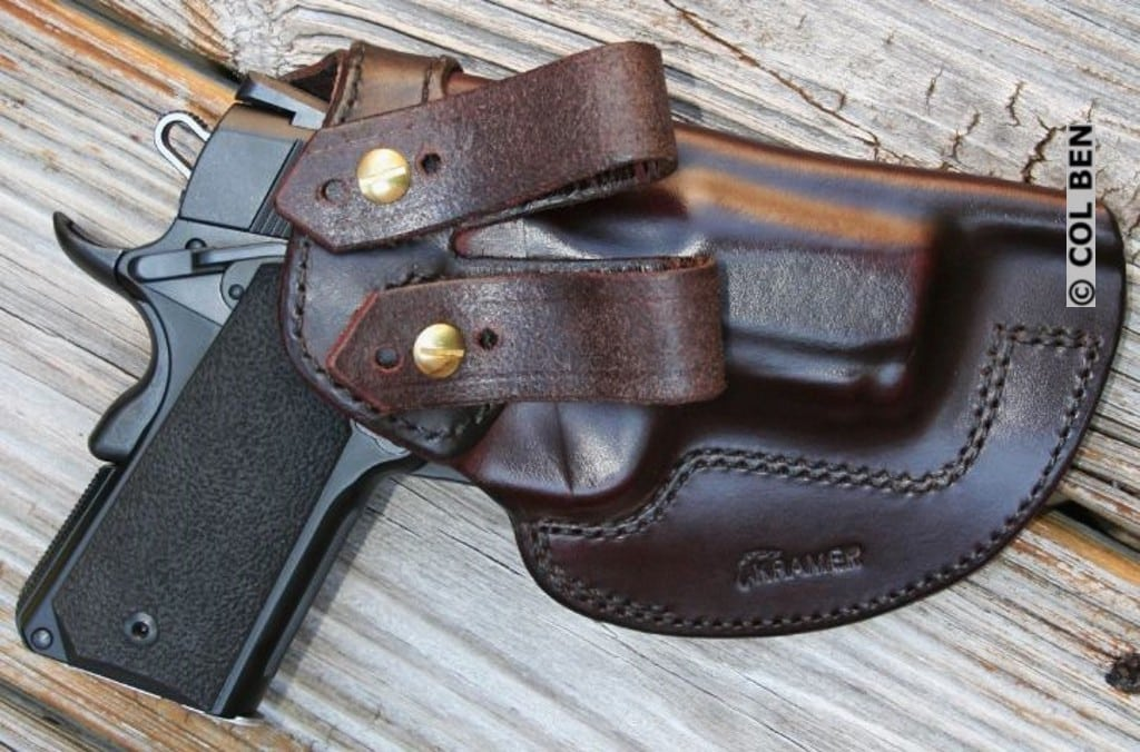 Kramer Leather IWB Leather #3 Holster of Durable Horsehide Leather with SW 1911 Pro Sub-Compact 9mm
