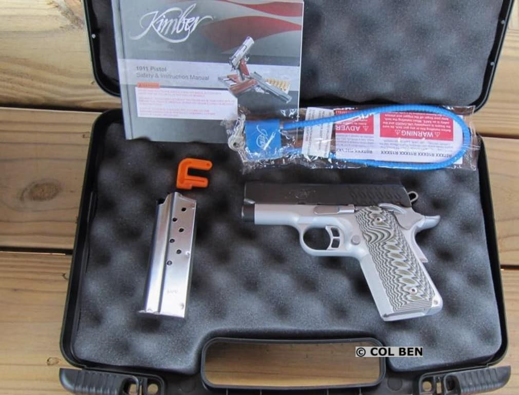 Kimber 1911 Aegis Elite Ultra in Hard Case with 1 Mag, Lock, Instruction Manual & Bore Flag